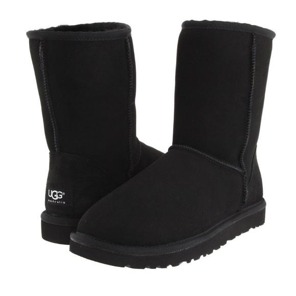 Mens Black Classic Short Boots Size 13